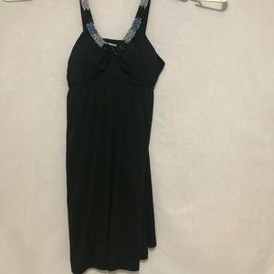 Candie's Women's Sleeveless Slip Tank Dress Black